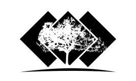 Dębowego drzewa szablon royalty ilustracja