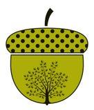 dębowy acorn drzewo ilustracji