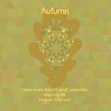 Dębowy liść z akwarela wzorem dla jesień projekta Fotografia Stock