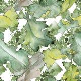 Dębowy liścia wzór w akwarela stylu Zdjęcia Stock