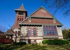 Dębu Parkowy kościół Obraz Royalty Free