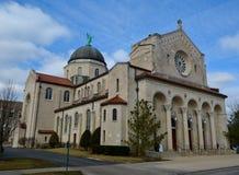 Dębu Parkowy kościół Zdjęcie Stock