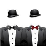 Dęciaków smokingi i kapelusze Obraz Stock