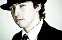 dęciaka kapeluszu mężczyzna Fotografia Stock