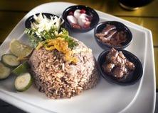 dłoniaka pasty ryż garnela Zdjęcie Stock
