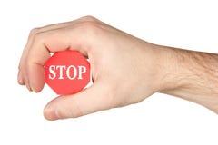 dłonie znak stop gospodarstwa zdjęcia royalty free