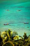 Dłudzy ogony na plaży Ko Phi Phi Don obrazy royalty free