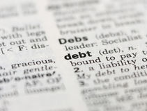 dług obraz stock