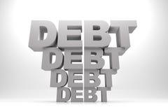 Dług Po długu ilustracja wektor