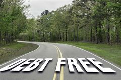 Dług Uwalnia autostradę obraz royalty free