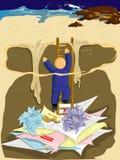dług wspinaczkowy. royalty ilustracja