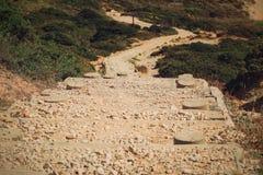 Długa ścieżka plaża zdjęcia royalty free
