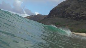 Długa fala w Hawaje shorebreak zdjęcie wideo