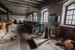 długa maszyna i waży w fabryce Zdjęcie Stock