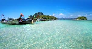 Długa ogoniasta łódź w Tajlandia zdjęcie royalty free