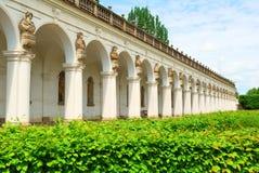 Długa renaissance kolumnada zdjęcia stock