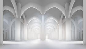 Długa sala w historycznym wnętrzu również zwrócić corel ilustracji wektora ilustracji