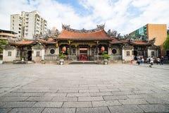 Długa shan świątynia Taipei Obrazy Royalty Free