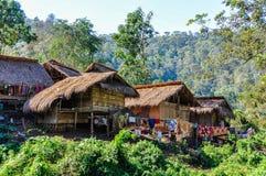 Długa szyi kobiety wioska blisko Chiang Mai, Tajlandia obraz stock