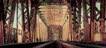 Długi Bien most, Hanoi, Wietnam Obraz Royalty Free