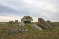 Długi dolmen w szwedach Skegrie Fotografia Royalty Free