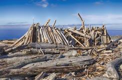 Długi dom plaży schronienie Fotografia Stock