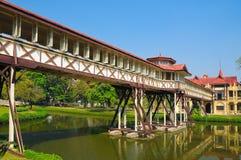 długi korytarza pałac sanamjan Thailand Zdjęcia Royalty Free