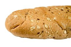 Długi multigrain chleb odizolowywający na białym tle obrazy royalty free