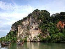 długi ogon Thailand łódź Fotografia Royalty Free