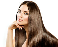 Długi Prosty włosy Zdjęcia Royalty Free