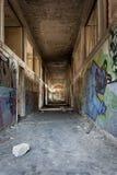Długi przerażający korytarz Fotografia Royalty Free