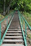 Długi schody w górę zdjęcie stock