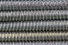 Długi stalowy śruby nici tło 2 obraz stock