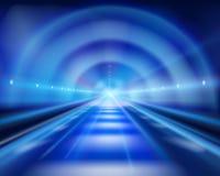 Długi tunel również zwrócić corel ilustracji wektora royalty ilustracja