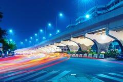 DŁUGI ujawnienie PHTOTGRAPHY PRZY BOTTOW most zdjęcie royalty free