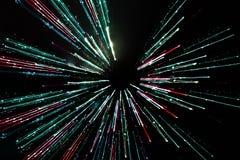 Długi ujawnienie, prędkość ruchu światło linie obraz royalty free