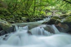 Długi ujawnienie Shaugh most w Dartmoor obrazy royalty free