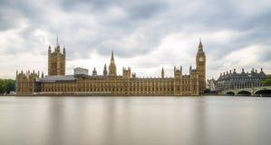 Długi ujawnienie strzał Big Ben i domy parlament, Londyn Zdjęcia Royalty Free
