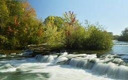 Długi ujawnienie strzelał Niagara rzeka w Nowy Jork obrazy royalty free