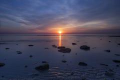 Długi ujawnienie wschód słońca Obraz Stock