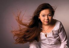 długie włosy zdjęcie stock
