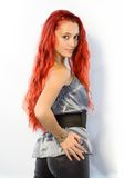 długie włosy g - girl. Zdjęcie Royalty Free