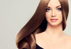 długie włosy g - girl Obraz Stock