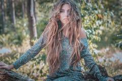 długie włosy g - girl Obrazy Stock
