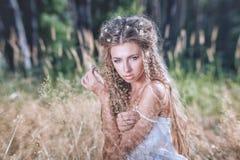 długie włosy g - girl Zdjęcia Stock