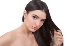 długie włosy g - girl zdjęcie royalty free