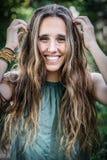 długie włosy g - girl nastolatków obrazy stock