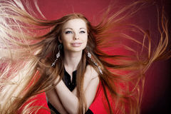 długie włosy kobiety Obraz Stock
