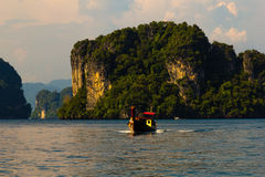 Długiego ogonu łódź przy Andaman morzem Fotografia Royalty Free