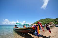 Długiego ogonu łódź przy, Ko Tao Obraz Royalty Free